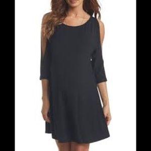 Tart cold shoulder dress, navy, L